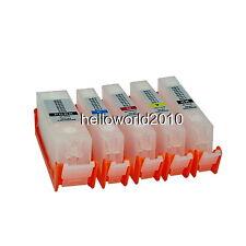 5 CARTUCCE RICARICABILI CANON PGI-525 / CLI-526 STAMPANTE MG5250 AUTORESET CHIP