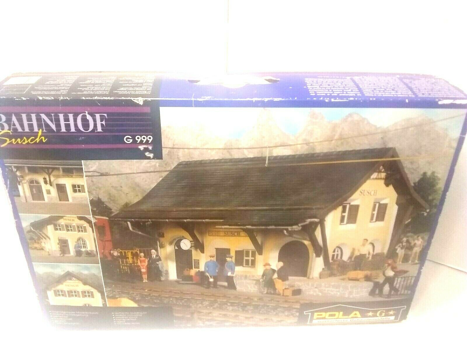 POLA SUSCH BAHNHOF G999 RAILROAD STATION MADE IN GERMANY G SCALE
