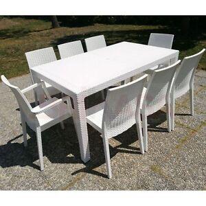 Set effetto rattan esterno giardino terrazzo bar tavolo sedie poltrone ebay - Poltrone per terrazzo ...