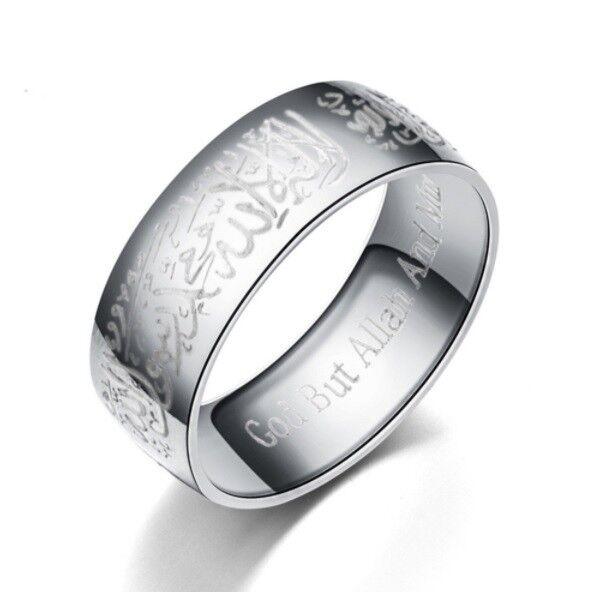 Arabisches Muslimisches Ring Quran Koran Kalimah Shahada Schahada Silber