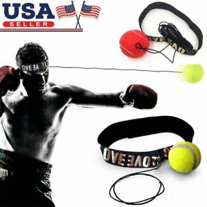 Boxing Punch Exercise Fight Ball Headband For Reflex Speed Training Boxing Pro