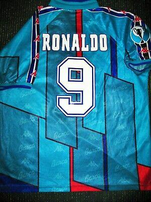 the best attitude 986ad 23656 Ronaldo Kappa Barcelona UEFA CUP Jersey 1996 1997 Shirt Inter Real Madrid  XL? | eBay