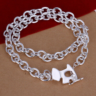 925 Sterling Silver Solid Dog Pendant Man Woman Chain Necklace N-A343