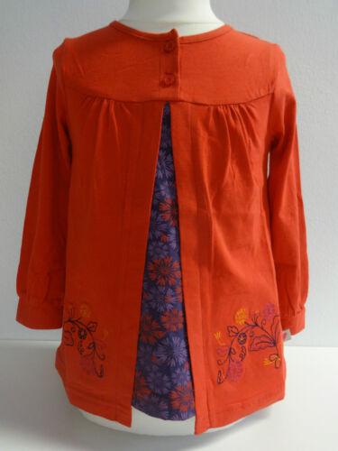 Nouveau Chemise Paglie manches longues tunique Babyshirt Taille 68 74 80 86 92 Rouge Mini-robe