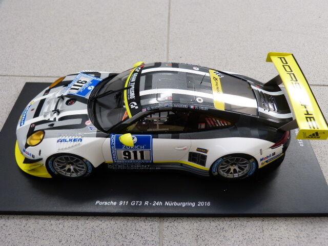 PORSCHE 911 991 Gt3 R 24h Nürburgring 2016 2016 2016 Manthey  911 modello auto 1:18 f2041b