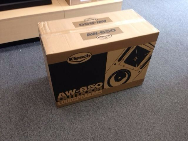Klipsch AW-650 White Outdoor Stereo Speakers(Pair) Brand New with Free Shipping!