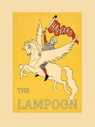 Harvard University Pegasus Horse Flying The Lampoon USA Poster Repro FREE SH