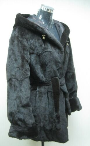 Lady amp; Fur Free Mink Us Brown Reversible Halfcoat Hoodie Silk Dark Plucked Shipg TxTqFS8Yw