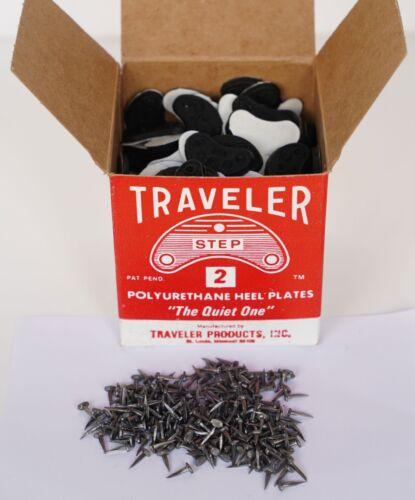 100 Pairs//200 ps Shoe Repair HEEL Savers Plastic Toe Plates Taps 0 2 3 4 5 Nails