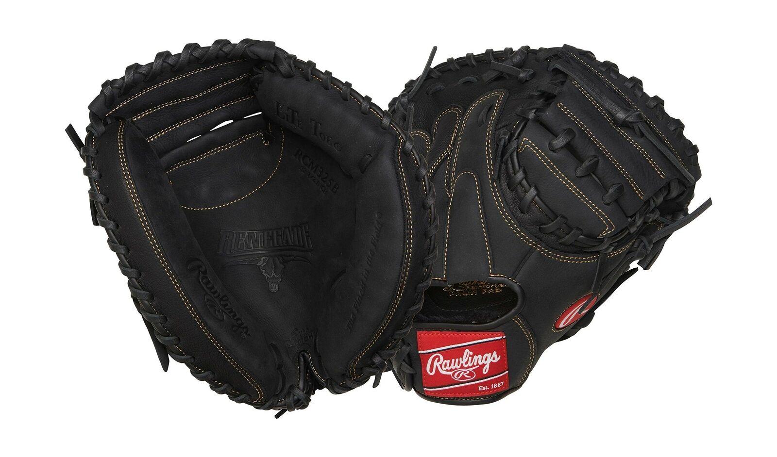 Rawlings Serie renegada de Béisbol Softbol Guantes Left Hand Throw Catcher