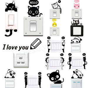 Various-Wall-Stickers-Light-Switch-Decor-Decals-Art-Mural-Living-Room-Home-Decor