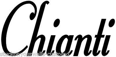 CHIANTI WINE WORD DECAL KITCHEN WALL ART STICKERS HOME PHRASE CUSTOM VINYL