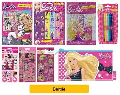 Children Stationery Activity Book Party Bag Barbie Mini Sketch Colouring Book