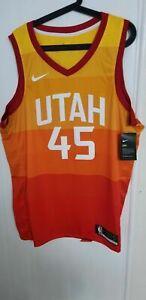 huge selection of e3fb1 c1ef6 Authentic Nike Swingman Utah Jazz City Edition Jersey XL - Donovan Mitchell