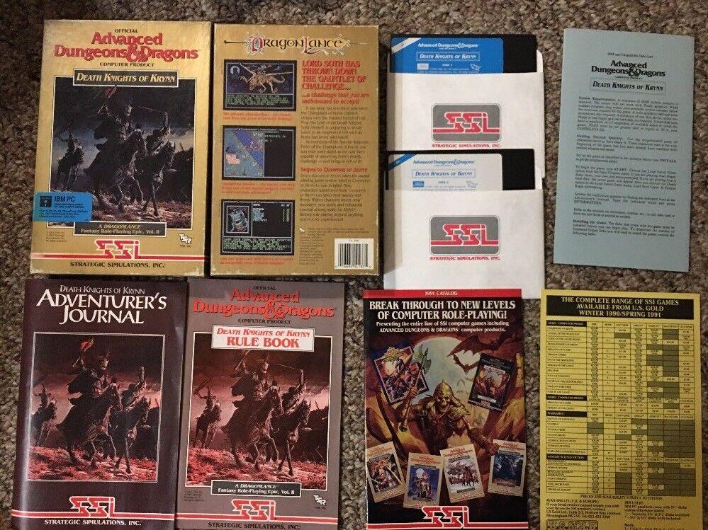AD&D SSI Death Knights Of Krynn Computer Game IBM PC TSR