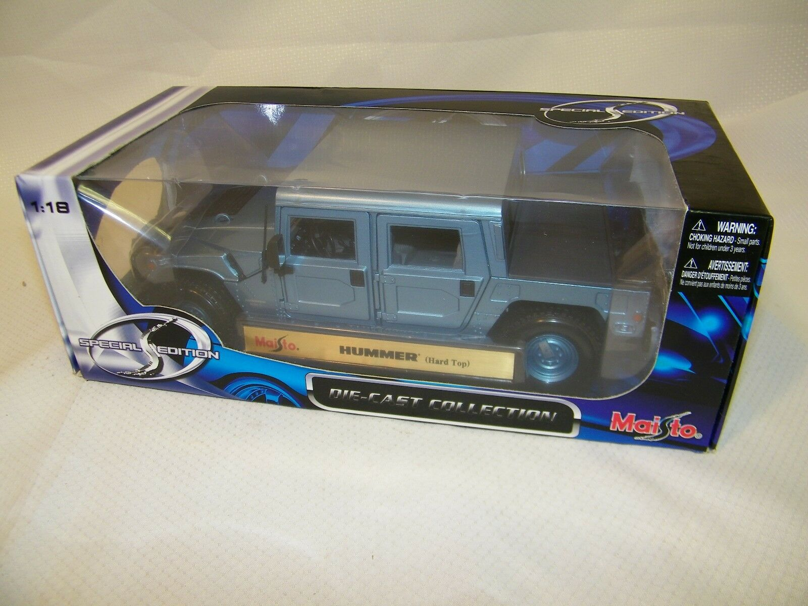 MAISTO 30857 1 18 scale, HUMMER HARD TOP DIE CAST COLLECTION SPECIAL EDITION