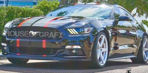 2 color Rally racing stripe stripes graphics decals fits any model Ford Mustang