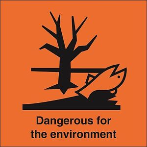 """Santé et sécurité autocollant danger dangereux pour l'environnement Autocollant 5 /""""avec texte"""