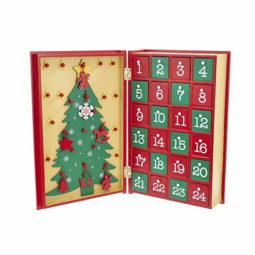 kurt adler d3045 11 wooden christmas advent calendar book ebay - Wooden Christmas Advent Calendar