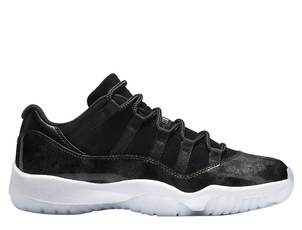 Nike Air Jordan 11 XI Retro Low Barons Black White Men's Size 7y. 528896-010 7