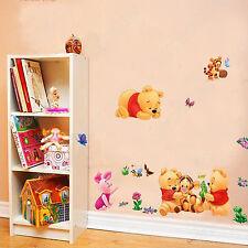 Baby Winnie the Pooh & Tigger Wall Stickers Decor Kid Room Nursery Cartoon B1