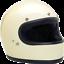 Biltwell-Gringo-Retro-Full-Face-Street-Motorcycle-Helmet-Vintage-White-2XLarge miniature 1