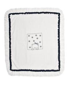 Protagonisti i Piccolli Bambini Teddy Bear COPERTA Fiore 103 Bianco