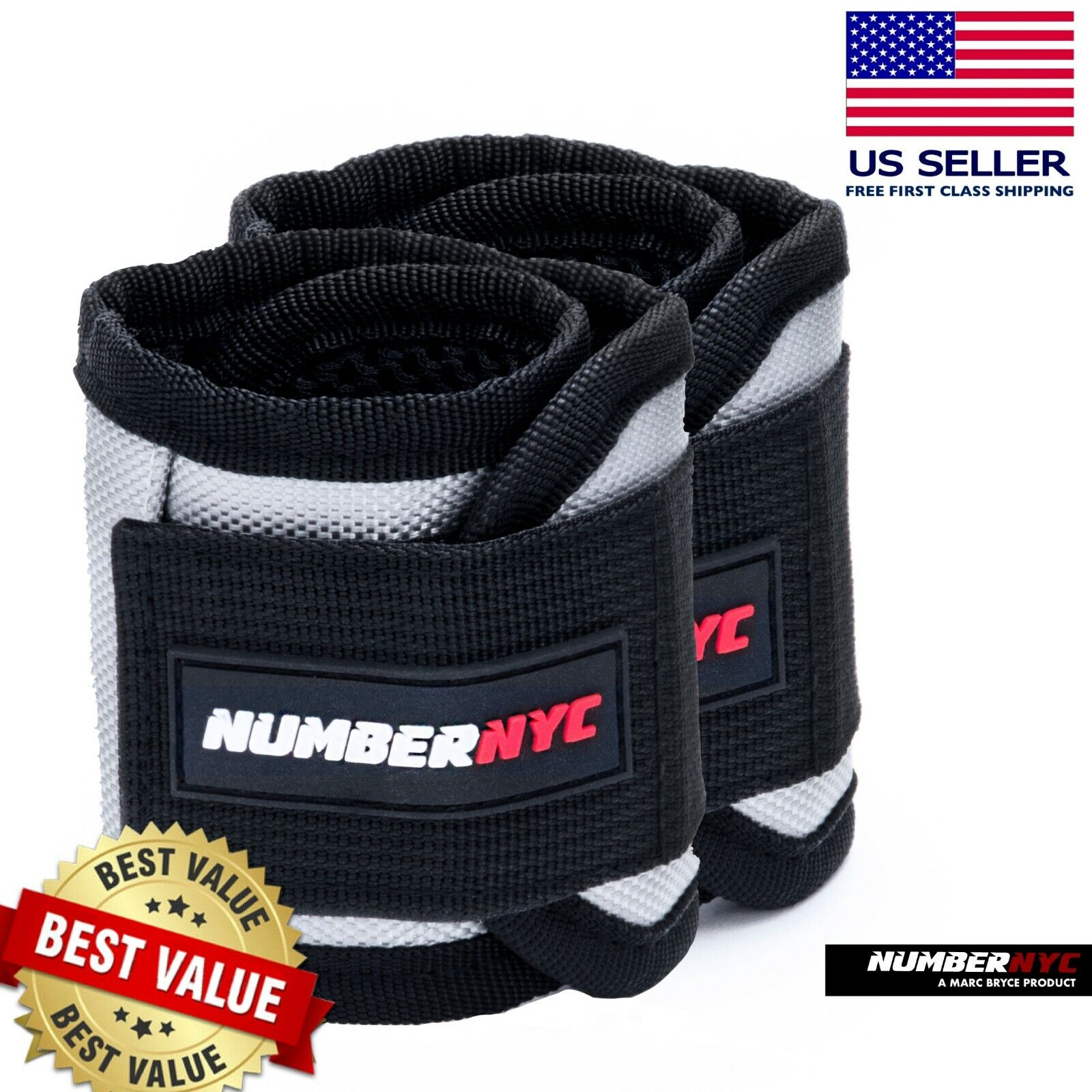2 Magnetic Wristband Compression Support Strap Relieves Tendinitis Carpal Tunnel