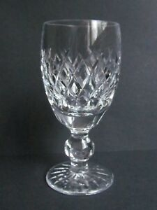 WATERFORD-CRYSTAL-BOYNE-4-034-SHERRY-GLASSES-SIGNED-amp-FIRST-QUALITY-Ref3198