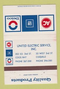 Matchbook-Cover-AC-Delco-GM-Coos-Bay-Coquille-OR-40-Strike