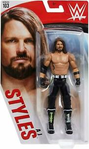 WWE-AJ-STYLES-MATTEL-BASIC-SERIES-103-WRESTLING-ACTION-FIGURE-NEW-CORE-AEW