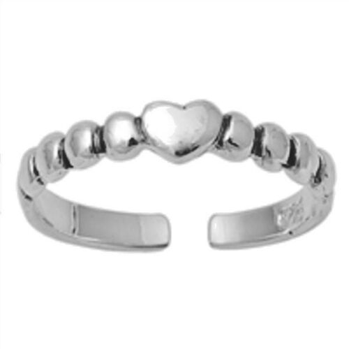 USA Seller Heart Toe Ring Sterling Silver 925 Best Price Adjustable Jewelry
