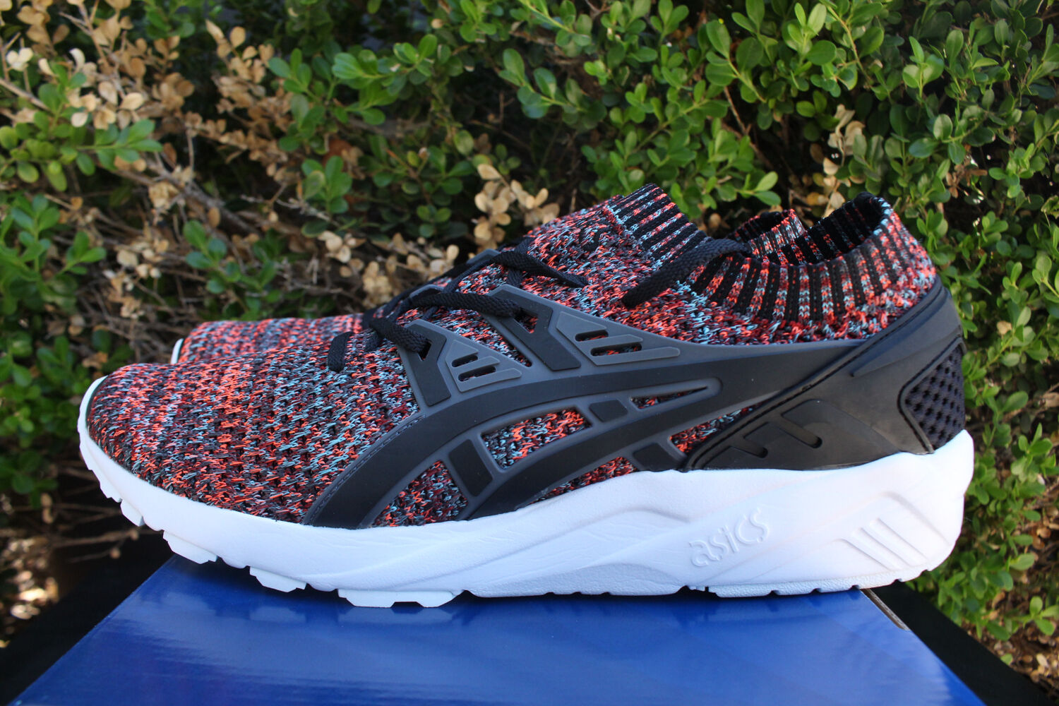 ASICS GEL KAYANO TRAINER KNIT SZ 12 CARBON BLACK HN7M4 9790
