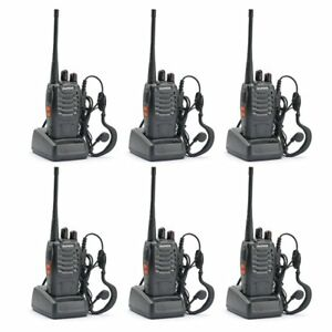 6PCS-Baofeng-BF-888S-Two-Way-Radio-Walkie-Talkie-Wireless-Handheld-UHF400-470MHz
