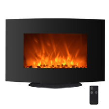 "750W/1500W Electric Fireplace 2-in-1 35"" Adjustable Color Curve Wall Mount FP35"
