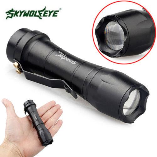 Modes DEL lampe de poche XPE Randonnée Torch 8000 lm 3 super nuit lumière lampe zoombare
