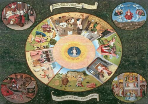 Fine Art Print The Seven Deadly Sins and the Four Last Things Hieronymus Bosch