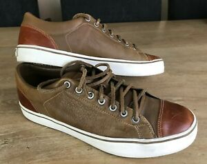 exageración Adicto cuenca  Adidas David Beckham Doley Lux Brown Leather Shoes Trainers Size UK 9  G21389 | eBay