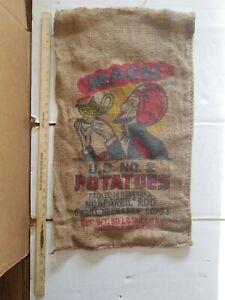 Vintage-MAGIC-BRAND-Burlap-Potato-Potatoes-Burlap-Sack-Bag-50-pounds-O-039-NEIL-NB