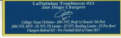 Display Cases Enthusiastic Ladainian Tomlinson San Diego Chargers Autograph Nameplate Football Helmet