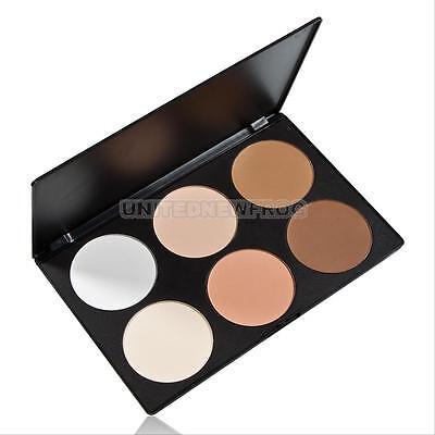 6 Matte Colors Pro Face Powder Contour Makeup Palette Blush Blusher Cosmetics ##