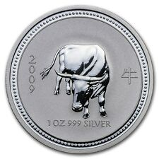 2007/2009 AUSTRALIAN LUNAR YEAR OF THE OX  1 oz.  SILVER COIN *BU* ~ Series 1