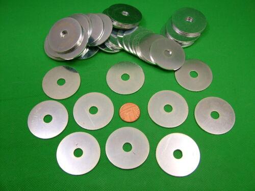 pack 25,zinc plated medium hole Penny repair mudguard washers,large M8 x 40mm