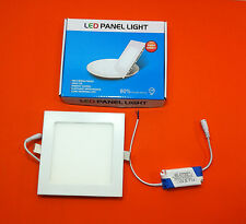 Led Light 12w 6500k Square Recessed Ceiling Panel Lights Fixture With Driver