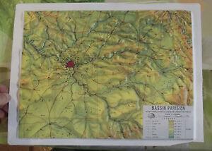 GéNéReuse Ancien Document Pédagogique Géographie En Relief Bassin Parisien Paris