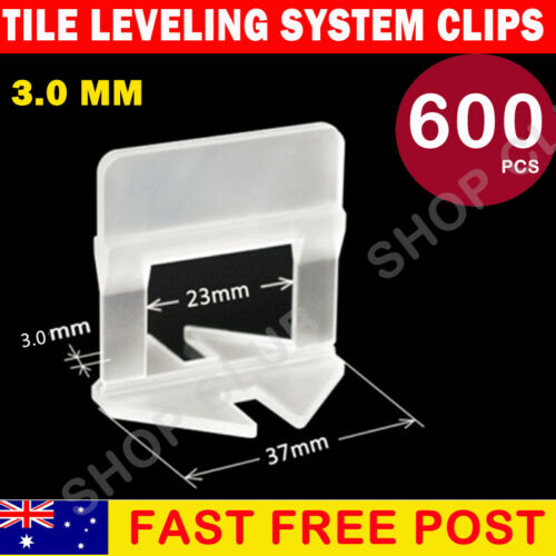 600//1000//2000 Tile Leveling System Clips Levelling Spacer Tool 1mm 1.5mm 2mm 3mm