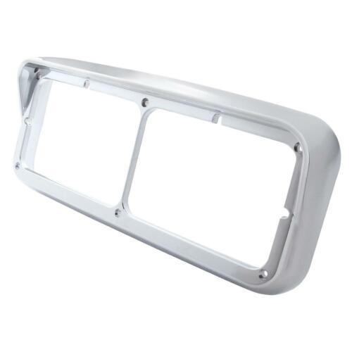 Chrome Dual Rectangular Headlight Bezel w// Visor