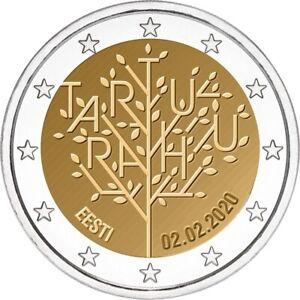 Estonia Estonie 2020 - 2 Euro Tartu Traité - UNC