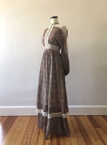 Vintage 70s GUNNE SAX Maxi Dress UNICORN And Flora