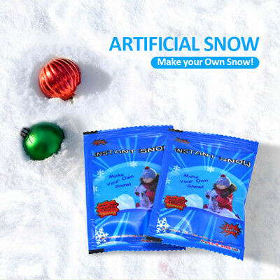Instant Magic Snow Artificial Fake Powder Kids Fun Christmas Decoration